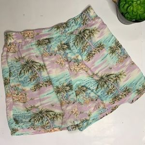 AMERICAN EAGLE Women's Pull-on Tropical Shorts